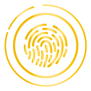 I.M. Security Services – Highly trained security personal - finger print logo
